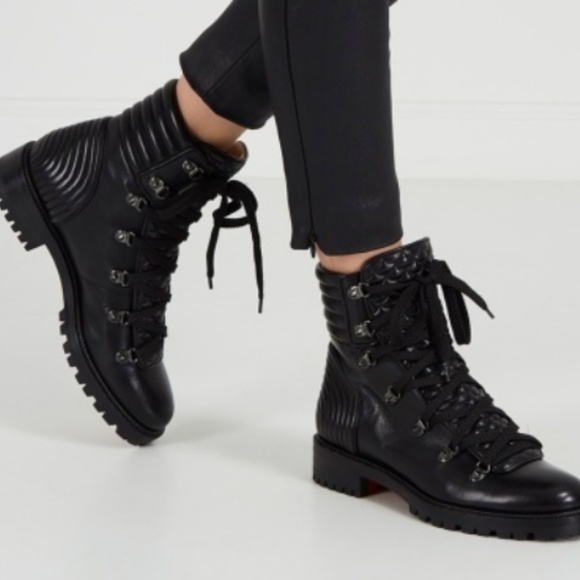 super popular 9495a 11cfa Christian Louboutin Mad Flat Combat Boots